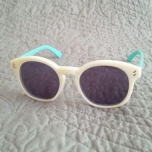 Stella McCartney White Colorblock Sunglasses